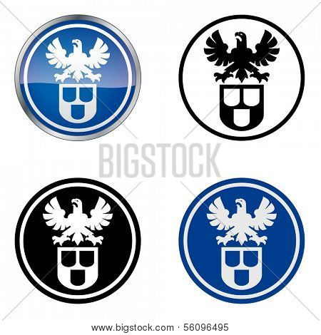 House Painter and Decorator - Traditional Craftsmen's Guild Vector Symbol, four variations