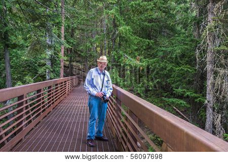 Active Senior Hiking Outdoors