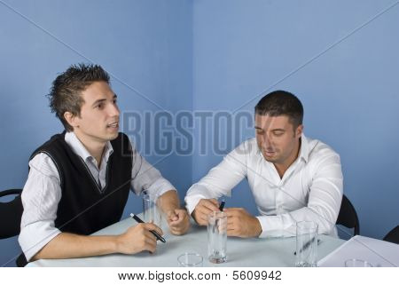 Two Business Man At Meeting