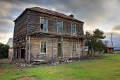 Old Abandoned Two Storey Wooden Farmhouse