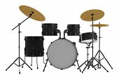 stock photo of drum-kit  - Drums isolated - JPG