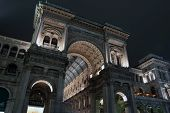 picture of emanuele  - Galleria Vittorio Emanuele at night Milan - JPG