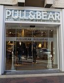 VALENCIA, SPAIN - DEC 27: A Pull & Bear retail clothing store in Valencia, Spain on December 27, 201