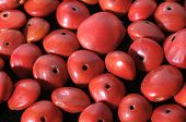 foto of kukui nut  - Colored Round Seeds Ready to make Handmade Jewelry - JPG