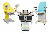 picture of gynecological  - gynecological chair under the white background - JPG