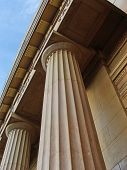 picture of corbel  - greek pillars supporting a pediment - JPG