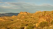foto of superstition mountains  - The mountains and rolling hills of the Superstition Mountains - JPG