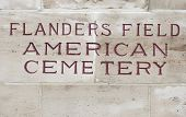 pic of arlington cemetery  - American cemetery Flanders field Belgium Waregem world war - JPG
