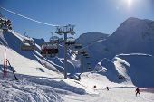 stock photo of ropeway  - Ski resort - JPG