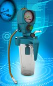 foto of suction  - Digital illustration wall suction units  in colour background - JPG