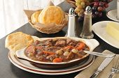 Beef Stew And Biscuits
