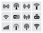 picture of antenna  - technology icons - JPG