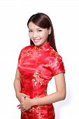 stock photo of traditional attire  - happy Chinese new year - JPG