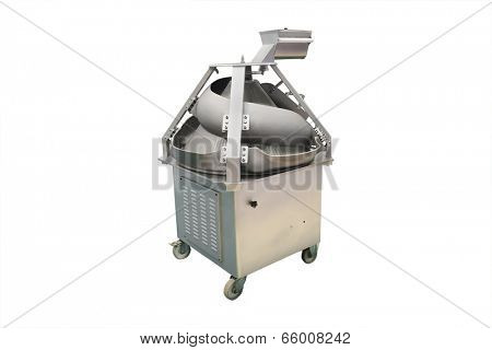 industrial dough mixer under the white background