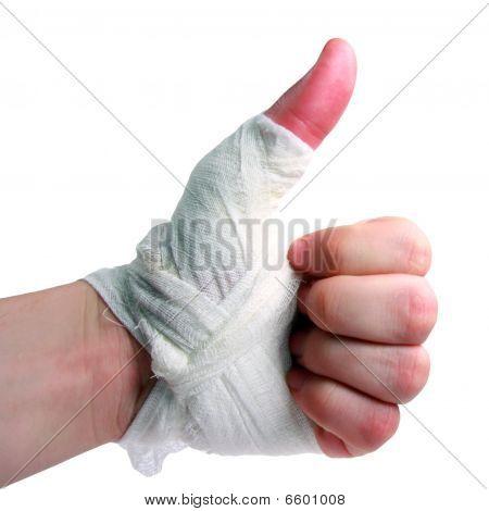 cepillo de la mano vendada