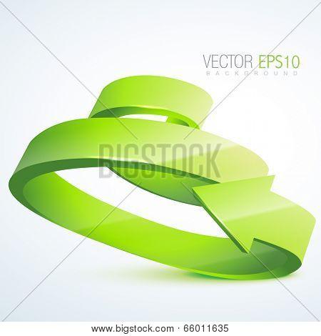 vector green 3d arrow illustration