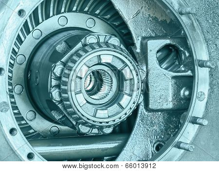 Close-up Inside Of Gearbox