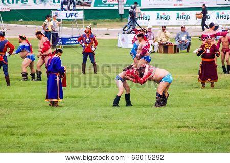Nadaam Mongolian Wrestling