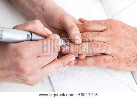 manicure man in a beauty salon