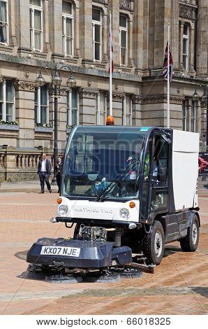 Street sweeper, Victoria Square, Birmingham.