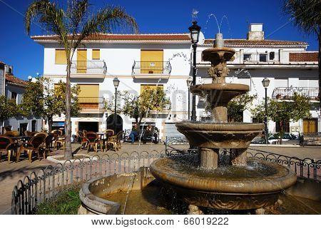 Fountain in town square, Colmenar.