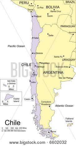 Chile and Surrounding Countries