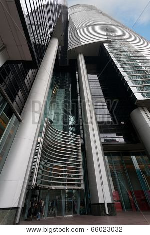 HONG KONG - SEPTEMBER 30, 2011: Modern building of Citibank located on Hong Kong Island. Citibank began operations in Hong Kong in 1902, has a network of 48 branches spread over Hong Kong and Macau.