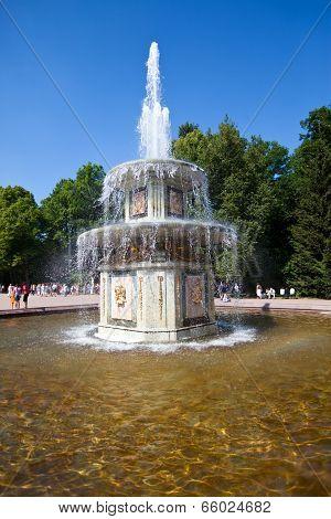 The Roman Fountains. Petrodvorets. Petersburg