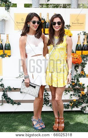 JERSEY CITY, NJ-MAY 31: Jewelry designers Danielle Snyder (L) and Jodie Snyder attend the 7th Annual Veuve Cliquot Polo Classic at Liberty State Park on May 31, 2014 in Jersey City, NJ.