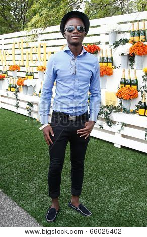 JERSEY CITY, NJ-MAY 31: Peter Nyong'o, brother of actress Lupita Nyong'o attends the 7th Annual Veuve Cliquot Polo Classic at Liberty State Park on May 31, 2014 in Jersey City, NJ.