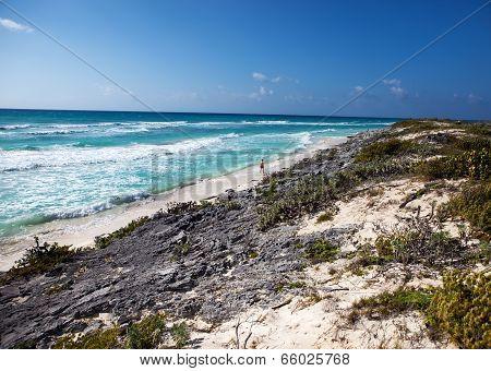 beache on Cayo Largo's island Cuba