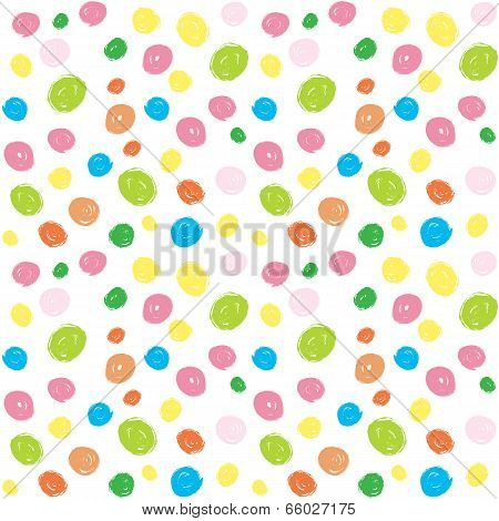 Kids Colorful Brush Stroke Seamless Pattern
