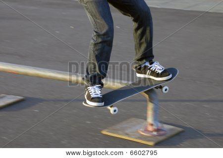 Skateboard Rail Slide