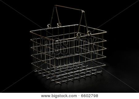 Small Chrome Basket On Black