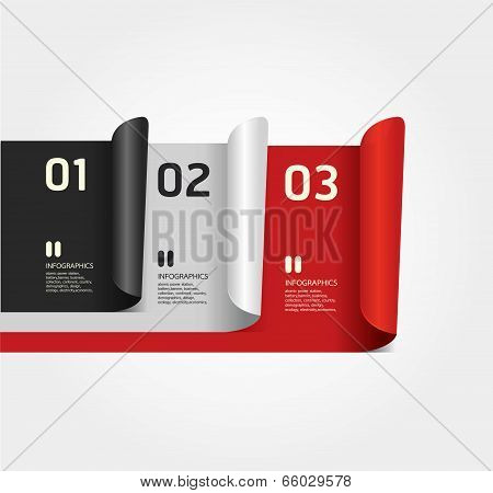 Modern Design Numbered Banners Template / Can Be Used For Infographics / Numbered Banners / Horizont