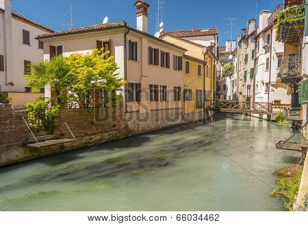 River flowing through Treviso