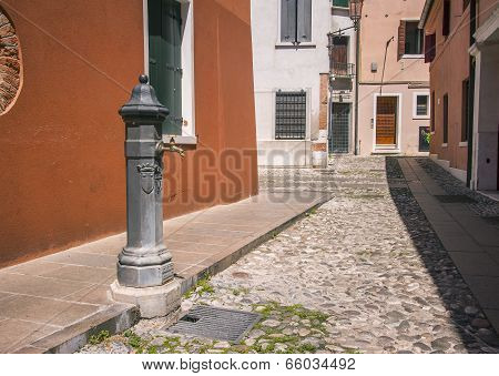 Drinking water tap on Italian street