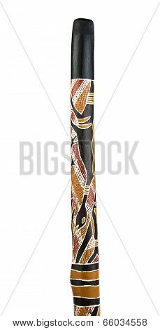 Close up of a Didgeridoo.