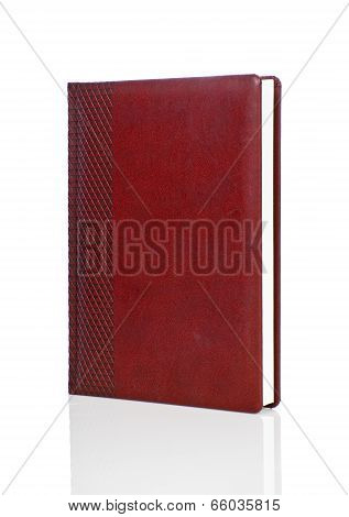 Blank Red Hardback Book With Ornament