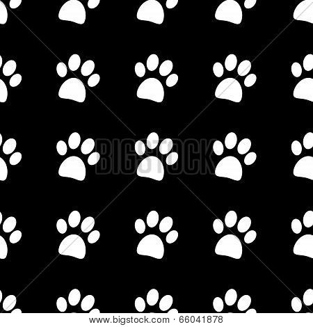 Paw Icon Seamless Pattern