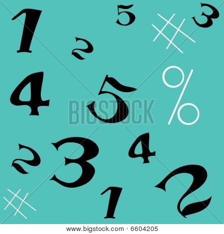 Number seamless pattern