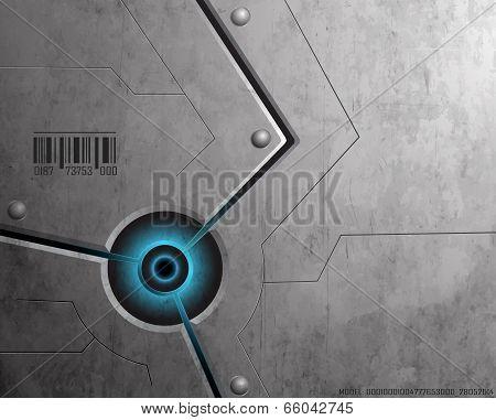 Techno Background Blue