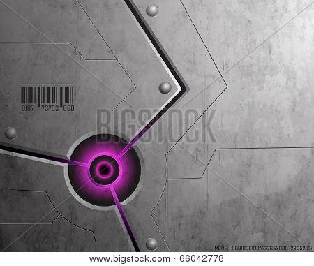 Techno Background Purple