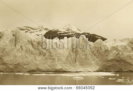 Perito Moreno Glacier Detail. Patagonian Landscape. Argentina