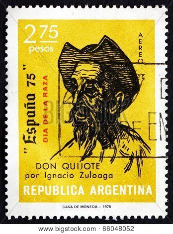 Postage Stamp Argentina 1975 Don Quixote, By Ignacio Zuloaga