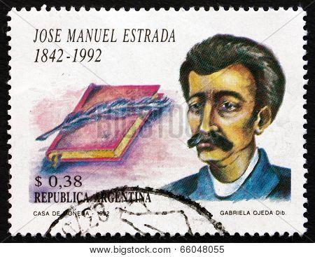 Postage Stamp Argentina 1992 Jose Manuel Estrada, Writer
