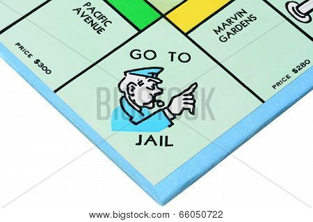 Closeup Monopoly Board Game Corner