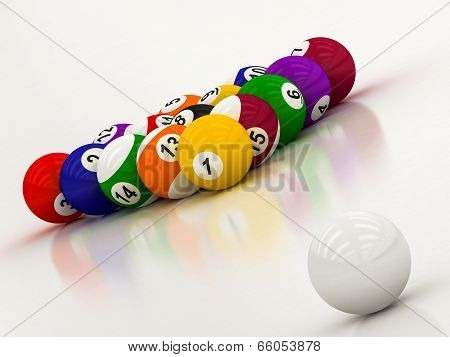 Billiard  Balls With Numbers