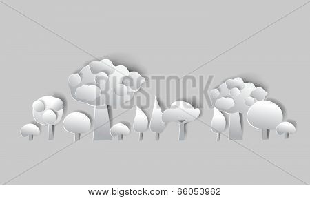 Paper background Forest