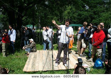 Oleg Melnikov At The Forum Of Civil Activists Antiseliger